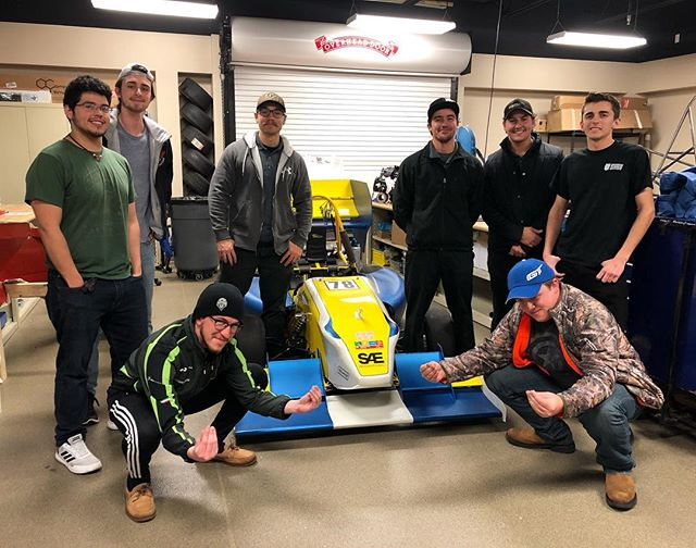 @knights_racing_ucf_fsae was in town for the Rolex 24 and stopped by for a visit! They've helped us out a ton so we were very glad we could show them around our space. Thanks for coming by guys!