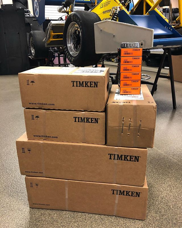 Thank you Timken for providing us with all the bearings we need plus extras!  #timken #formula #formulasae #formulastudent #erau #eraumotorsports