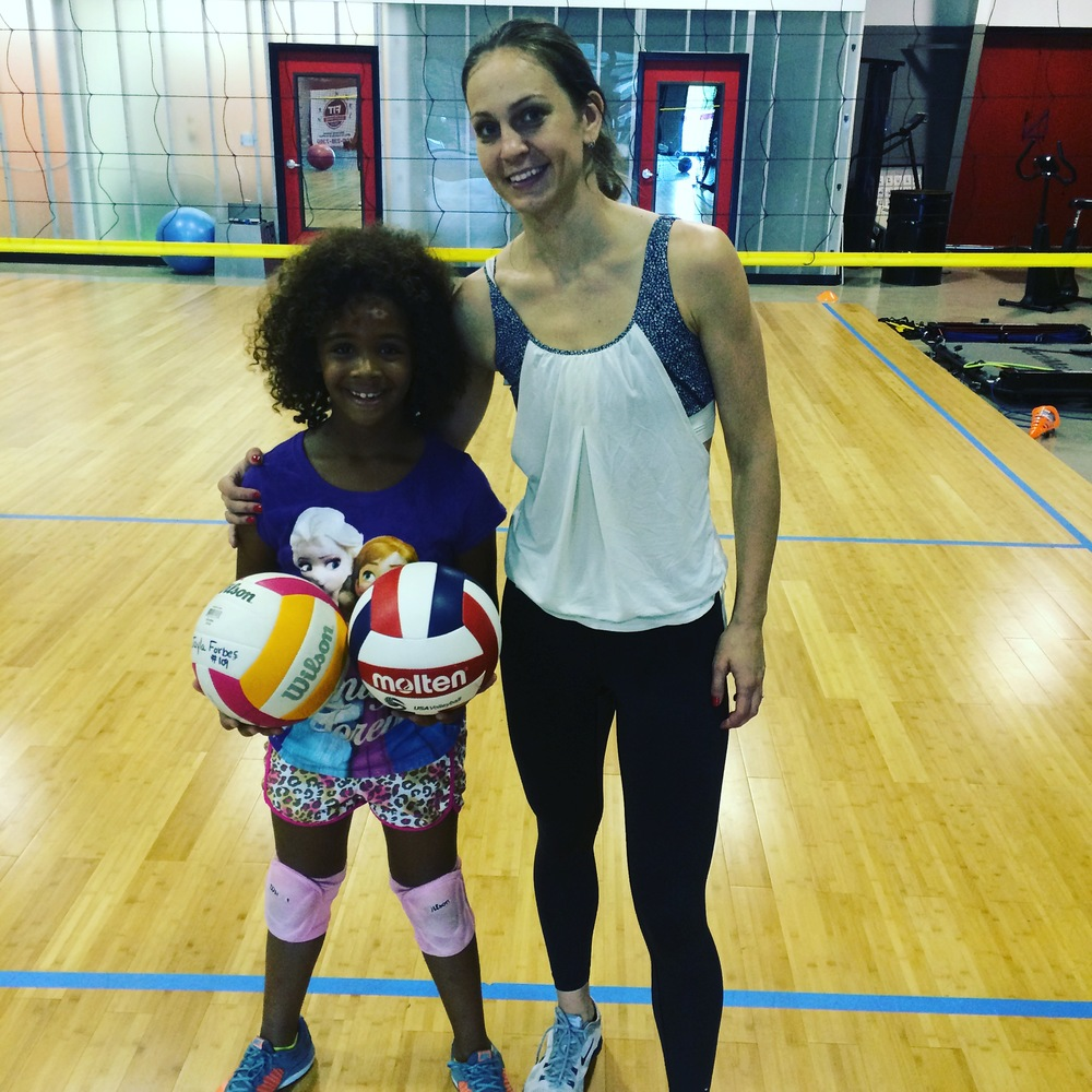 COACH NEV WITH HER YOUNGEST ATHLETE, JAYLA (8 YO)