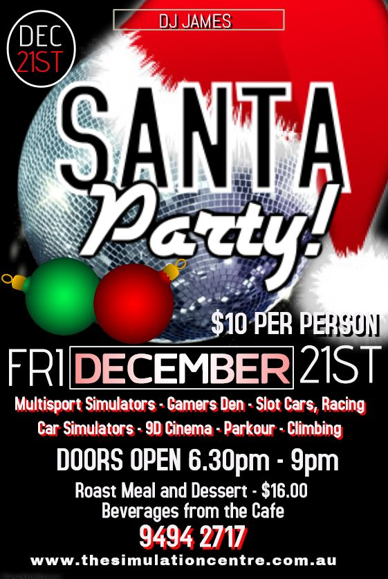 Santa Party    - https://www.eventbrite.com.au/e/santa-party-tickets-44178638497
