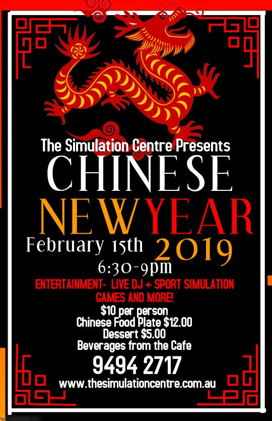 Chinese New Year - https://www.eventbrite.com.au/e/chinese-new-year-2019-tickets-44179110910