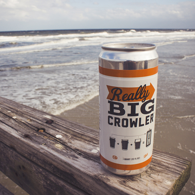 Crowler Fact #1: Under no circumstances should crowlers be used as a flotation device. However, please make sure to rescue that precious beer if it ever goes overboard.🌊