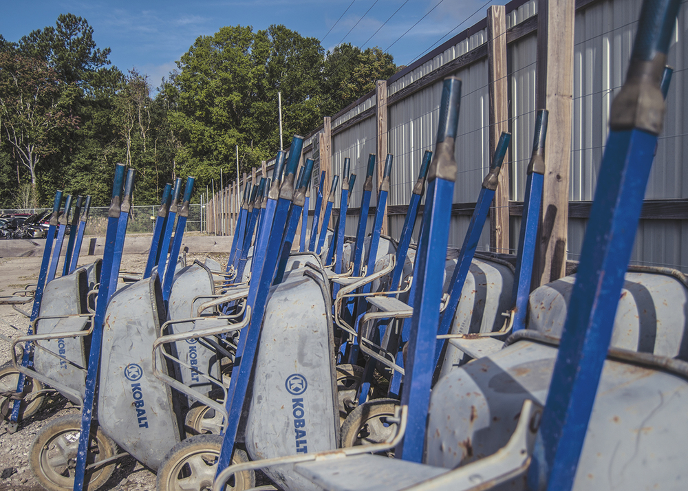 The wheelbarrow fleet is ready for your pullin' spree this weekend.