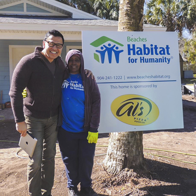 Al and his team recently donated an awesome new house for Robin Davis through the Beaches Habitat for Humanity! The home will be ready next month and you can view more pictures on our Facebook page.
