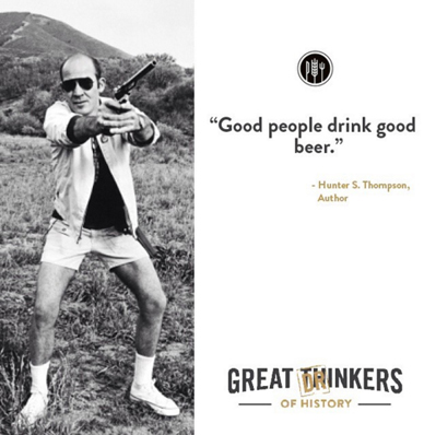 Take it from Mr. Thompson ... If you don't enjoy the liquid gold, stick 'em up. We need to get you checked out!