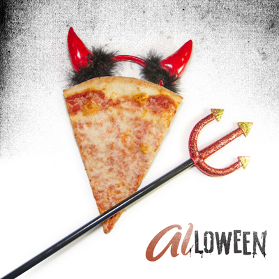 This slice may be giving off a bad vibe, but we promise it still tastes good! Seven days until #ALLOWEEN! 👹
