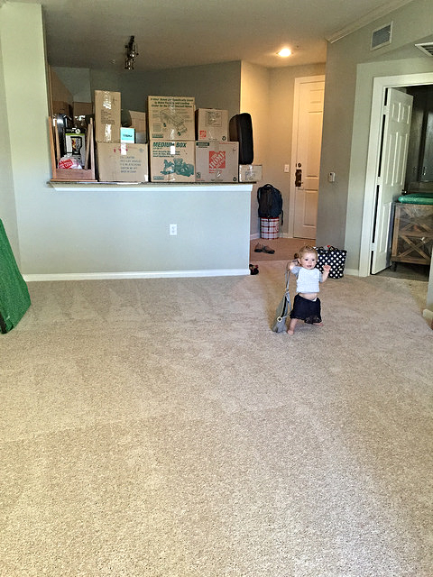 Down to a third of the space we used to have and loving it!