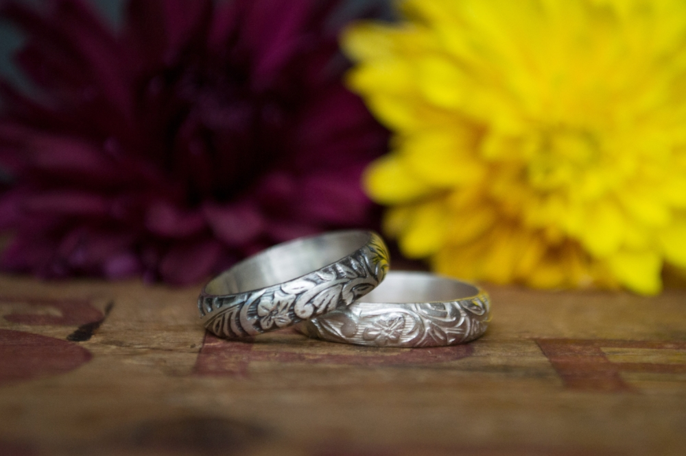 Oxidized vs unoxidized sterling silver rings