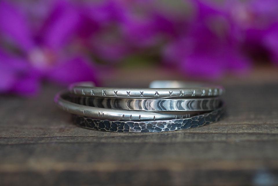 oxidized sterling silver cuff bracelets
