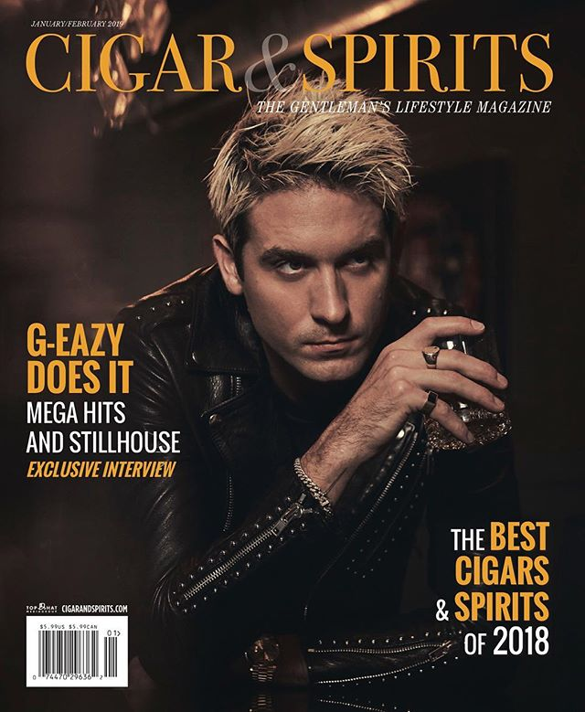 Starting off the year with a 7-page cover story for Stillhouse, Co-Creative Director G-Eazy and Founder Brad Beckerman in Cigar & Spirits Magazine. Thanks @randymastronicola for this fantastic piece!