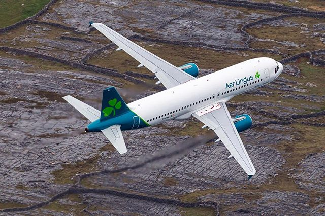 Hopped off the plane at JFK! Check out @aerlingus sleek new aircraft off the heels of a full brand refresh ☘️
