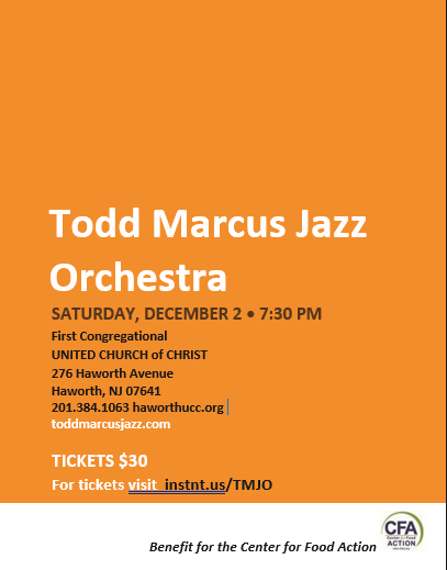 Todd Marcus Jazz Orchestra Fundraiser To Benefit The Center For