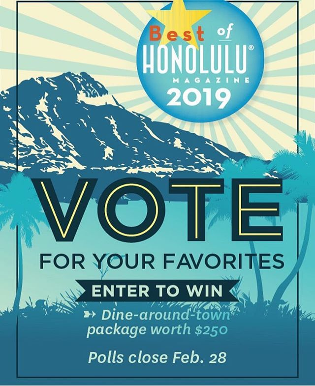 ALERT ALERT!!!! Shameless self promotional post! Vote for us for delicatessen? I think we are considered a delicatessen? Does Hawai'i have any delicatessens? Maybe just  look at the ballot and write EARL somewhere! Thanks k bai. 🙈 Link in the bio. Ps anyone who votes for me will get ten dollars in buca bucks (buca da beppo gift card) polls close soon!