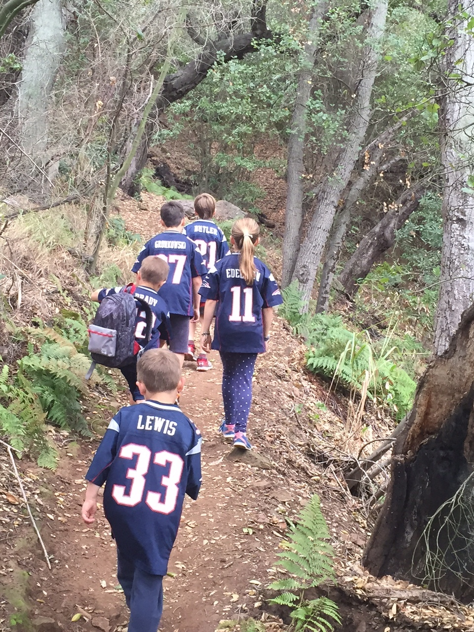 Out on a family hike before the Pat's last game!