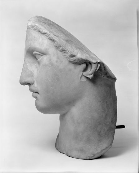 Acrolithic Head from a Roman Cult Statue of a Goddess 98-235 AD