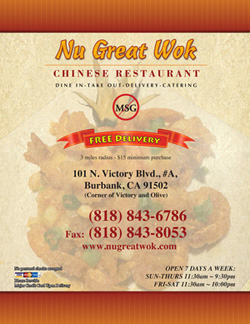 Nu Great Wok Menu