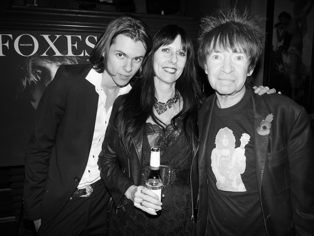 Julian and Tina de la Celle with Rodney Bingenheimer shot by Brad Elterman.
