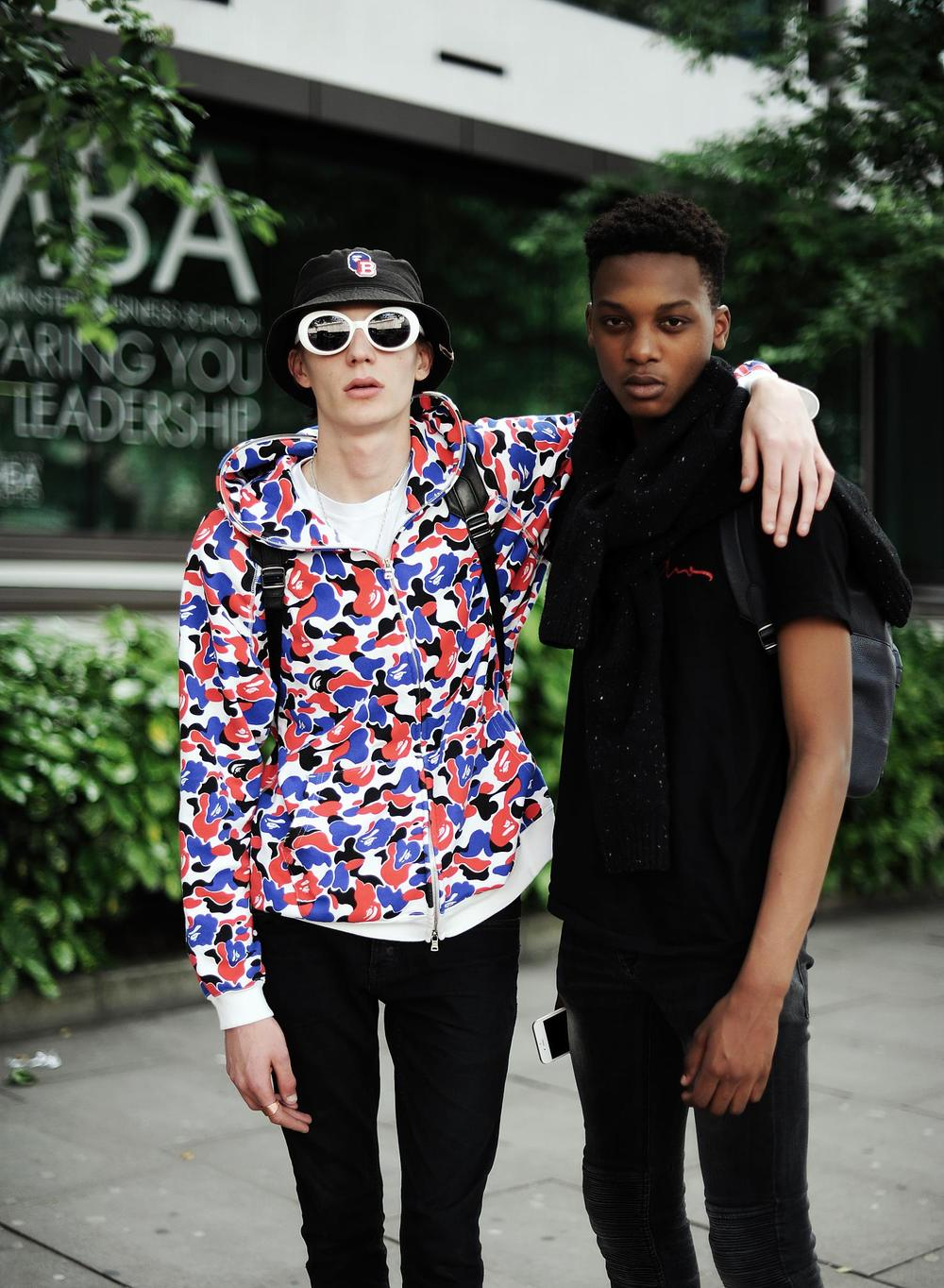 Finnlay Davis @ Elite Models + Aliou Drame @ 16 Men