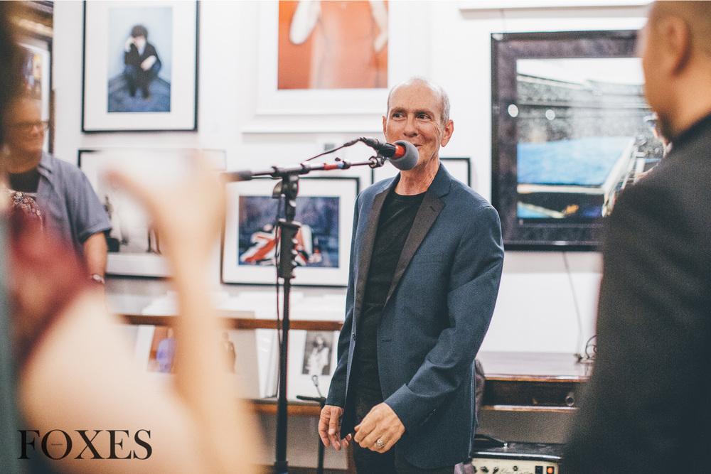 Sam Milgrom, owner of Mr. Musichead Gallery