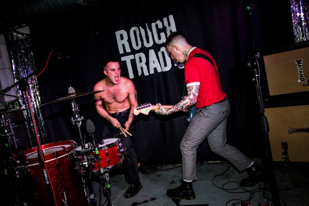 Slaves blow the roof off of Rough Trade Records for their record release.
