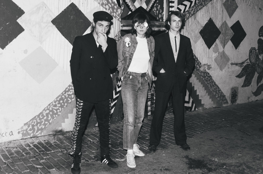 Marlon,Clémence and Sacha of La Femme shot in Los Angeles.