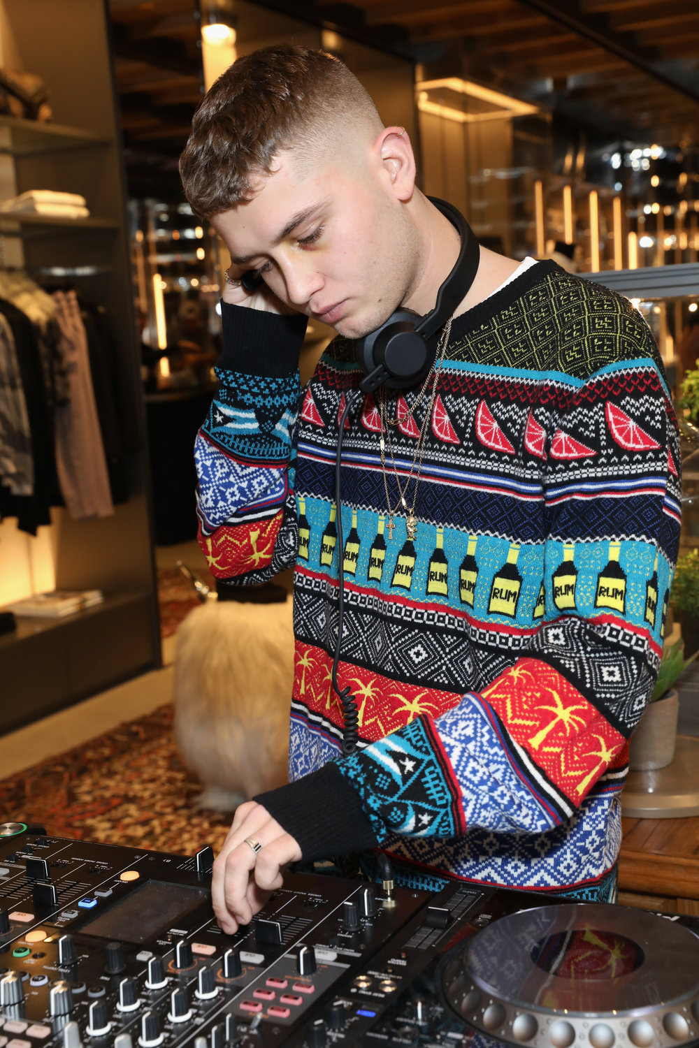 Rafferty Law DJing the Diesel flagship party.