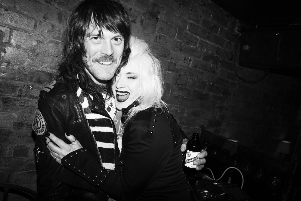 Tim Rockins (L) with Pam Hogg (R) shot by Flo Kohl.