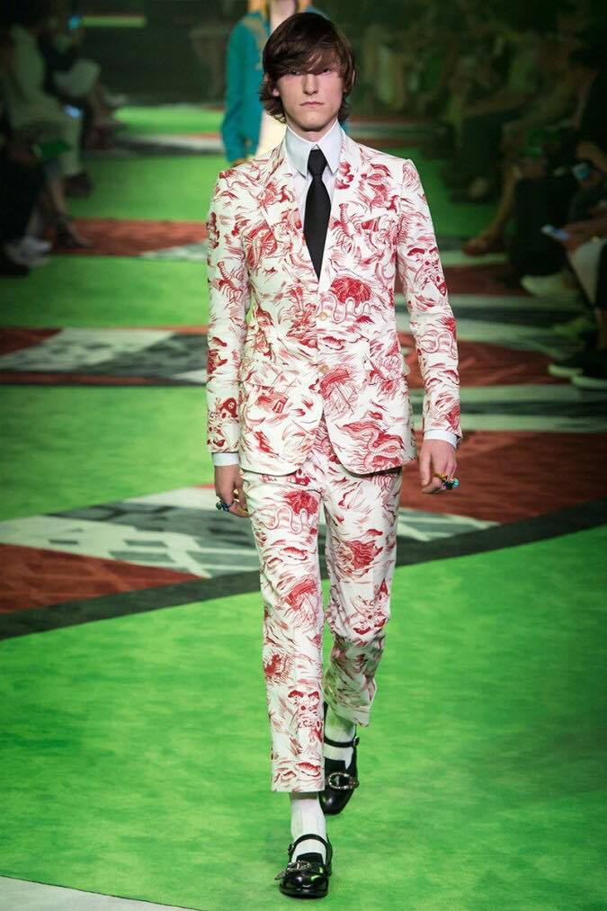 Walking for Gucci.