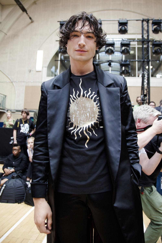Ezra Miller at Vivienne Westwood.