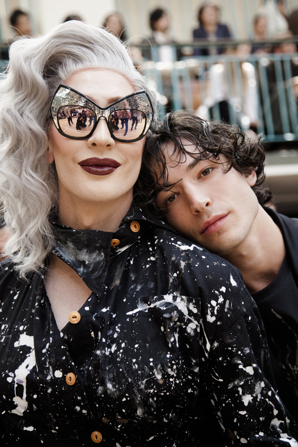 Detox and Ezra Miller at Vivienne Westwood.