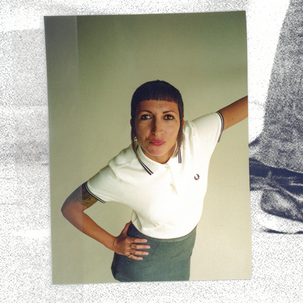 Anne Cecile in Fred Perry.