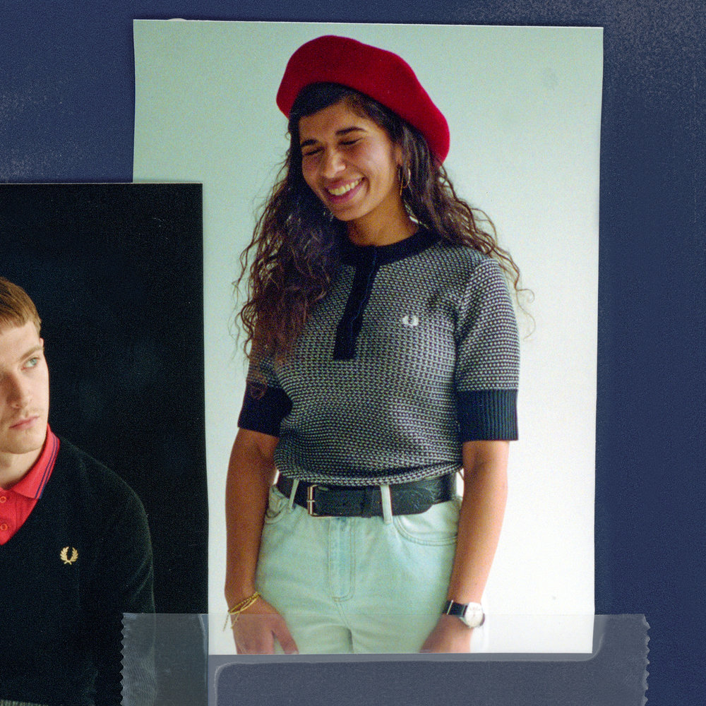 Throwing Shade in Fred Perry.
