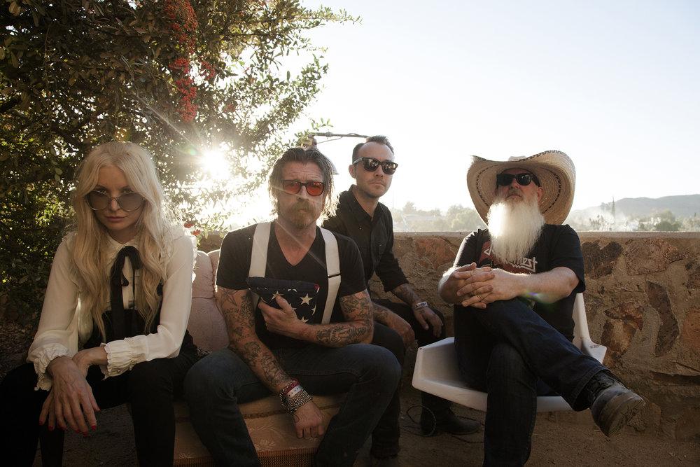 Eagles of Death Metal shot by Wanda Martin.