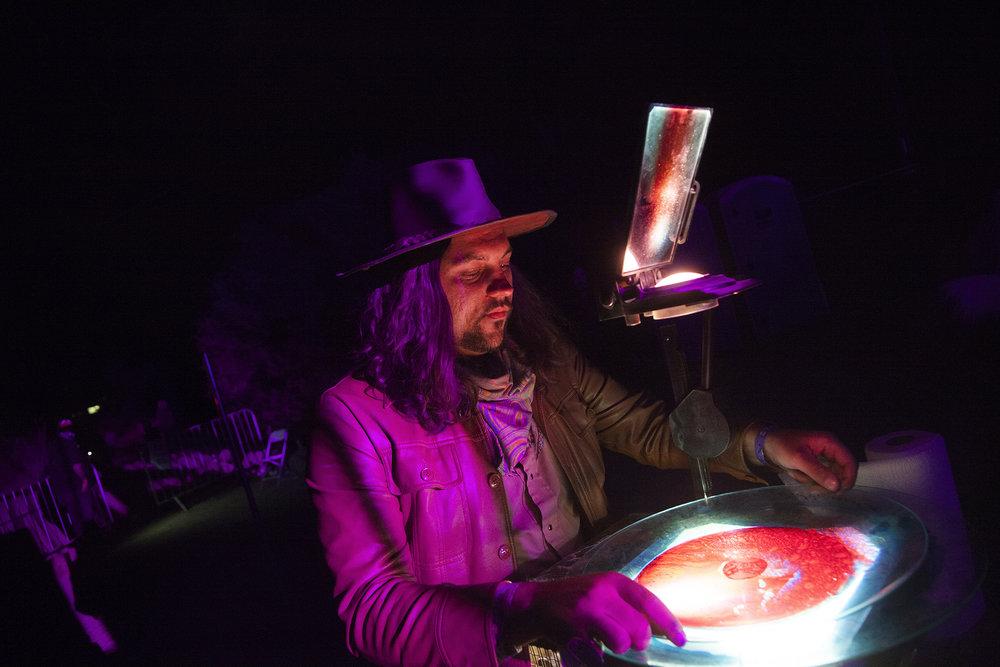 Mad Alchemy Liquid Light Show shot by Wanda Martin.