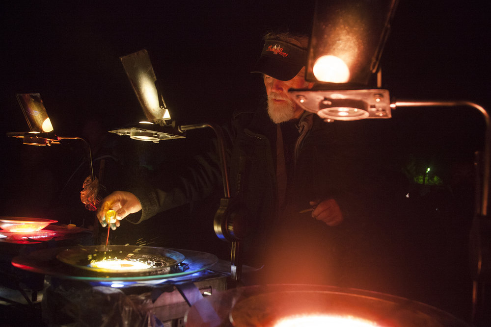 Founder Lance Gordon of Mad Alchemy Liquid Light Show shot by Wanda Martin.