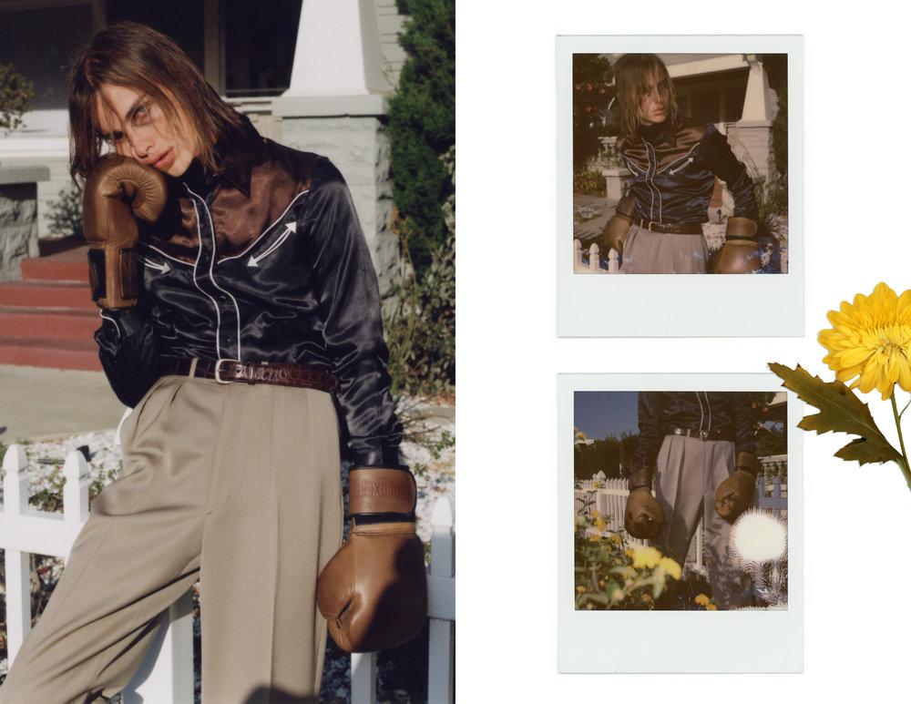 Pants - Armani Exchange Black turtleneck - Gucci  Shirt - Calvin Klein  Brown belt & boots - Ralph Lauren