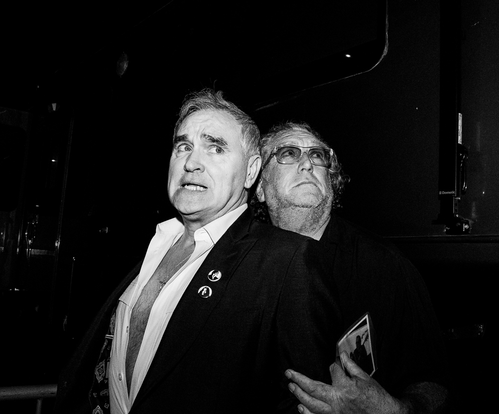 Morrissey & Steve Jones of The Sex Pistols.