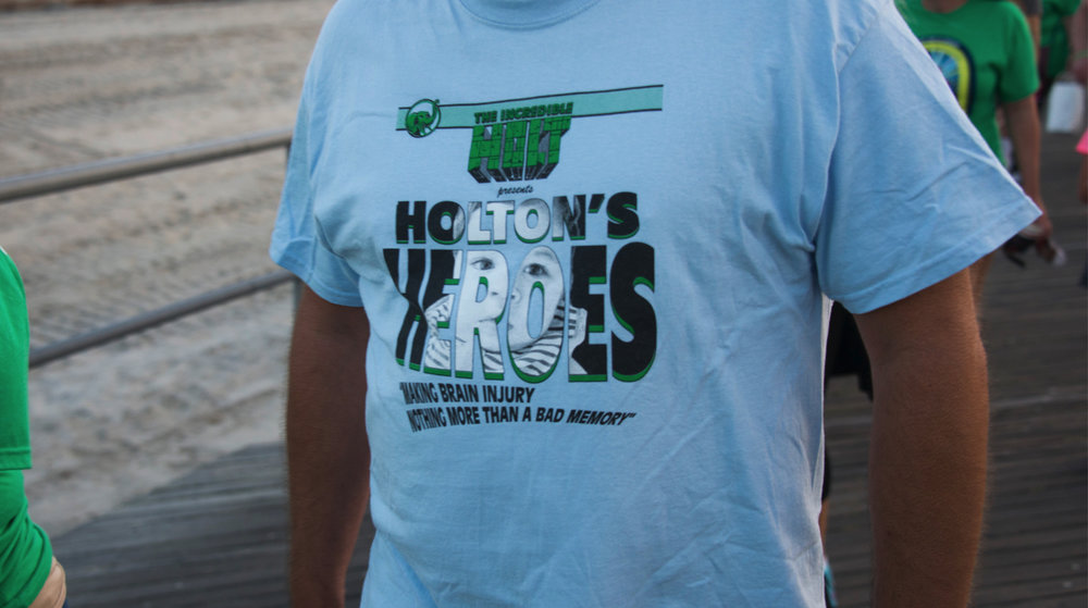 We spy the original Holton's Heroes tee circa 2015!