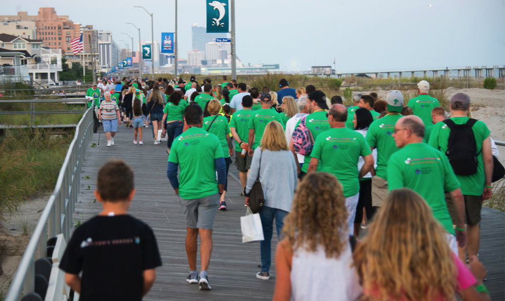 A sea of green took over the Ventnor boardwalk!