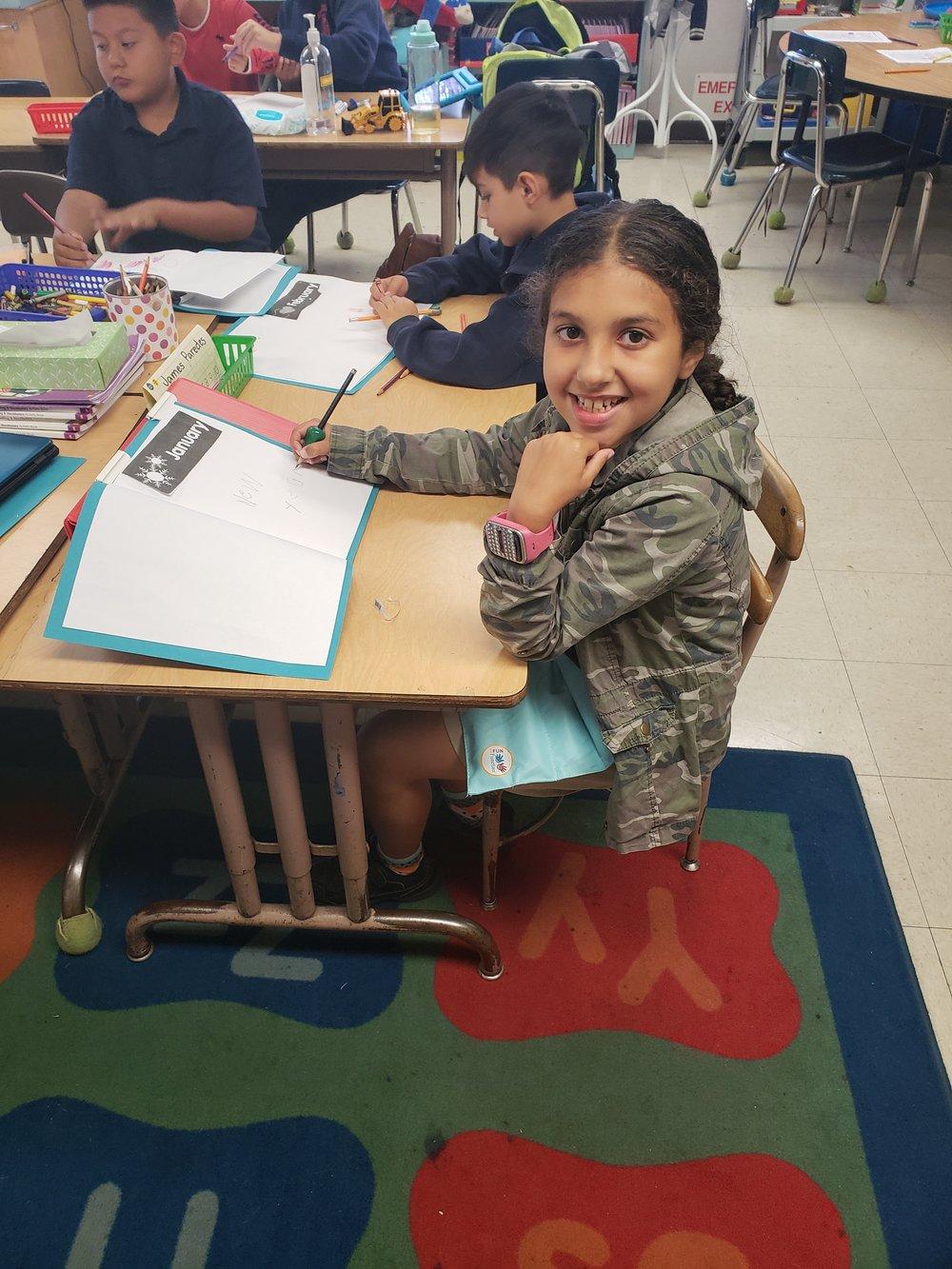Giada at school
