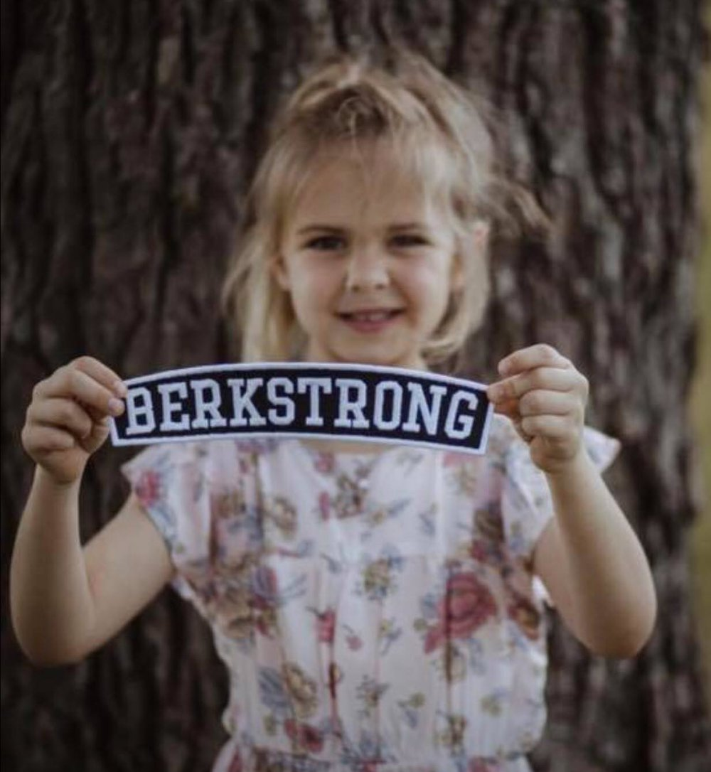 "Big sister Austyn is ""Berkstrong"""