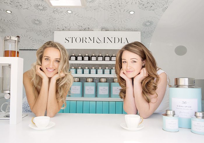 Storm and India Bellamy attend events around New Zealand in their custom-designed Tea Van