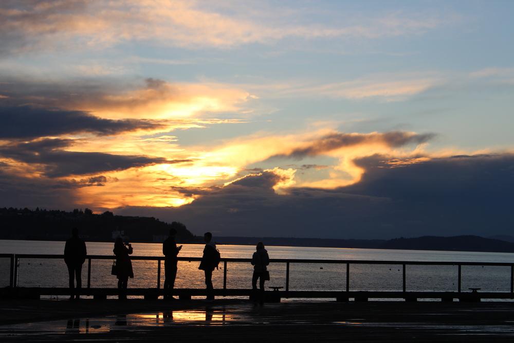 Coucher de soleil @ Seattle