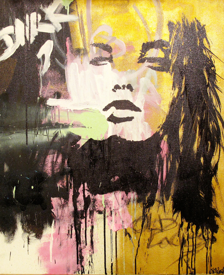 """Et si c'etait comme ca"" Acrylic & Spray 54 x 64,5 cm 2013"