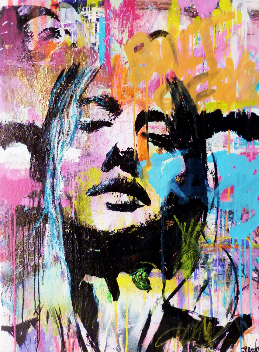 """Tout reste a dire"" Acrylic & Spray 70 x 100 cm 2013"