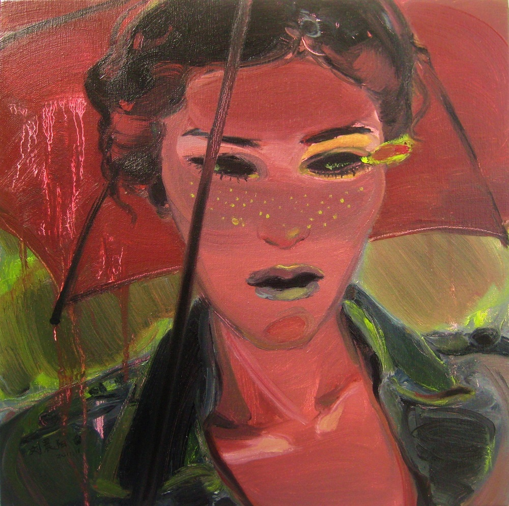 """Rainy Day"" Oil on Canvas 50 x 50 cm 2011"