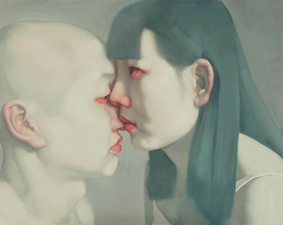 """""""Left Shore Right Shore Series, No.1"""" Oil on Canvas 150 x 120 cm 2012"""