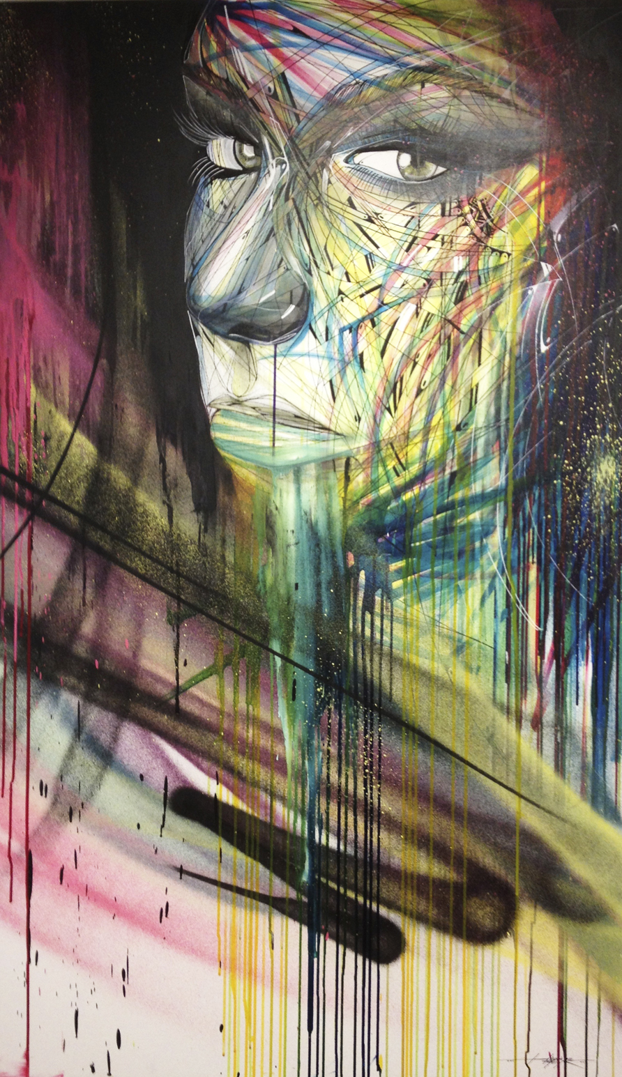 """Inspiration"" Spray/Ink/Acrylic 150 x 100 cm 2013"