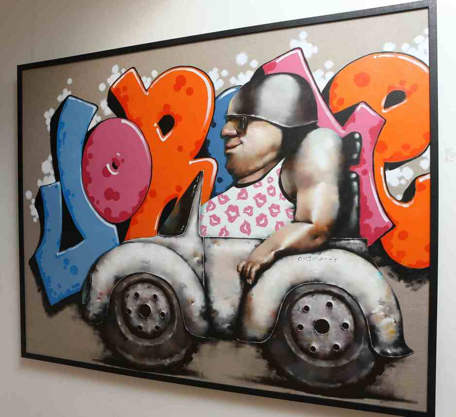 """Cool driver""   Oil on Canvas   184 x 144 cm (Framed)   2012"