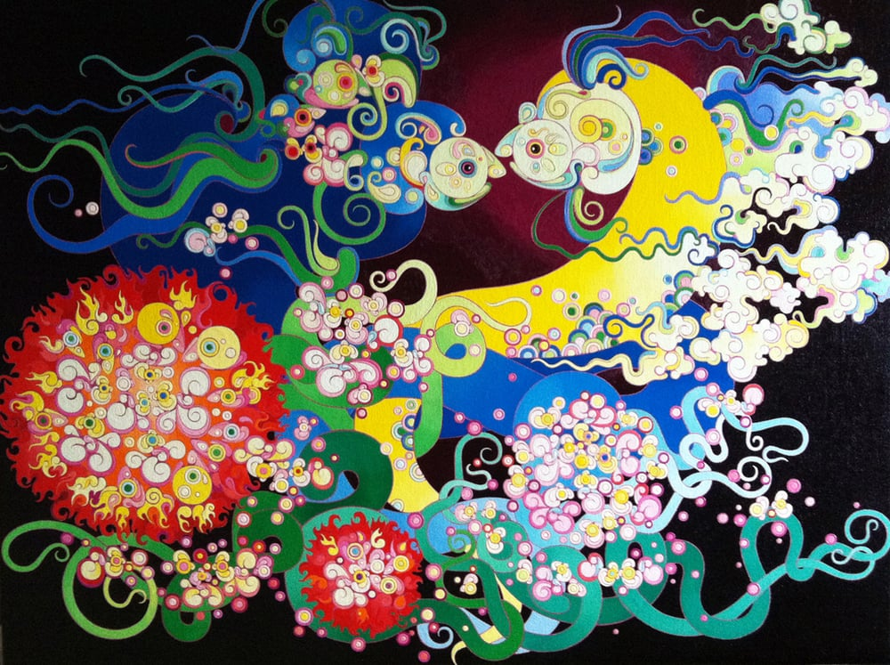 """The Big Band of Five Elements"" Oil on Canvas 120 x 160 cm 2013"